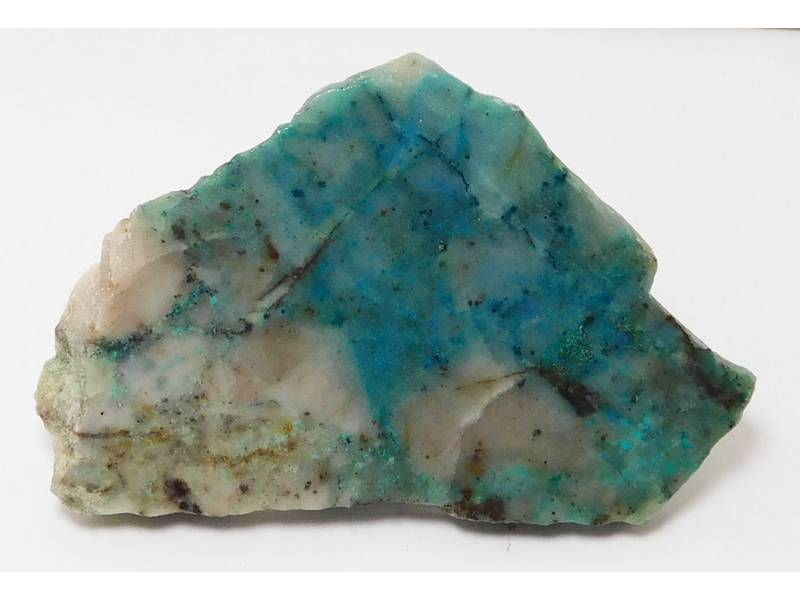 "Chrysocolla in Quartz Lapidary Slabs 3.5"" x 2.2"" x 0.26"" - COLLASLAB2242"