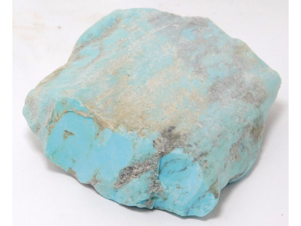 "Kingman Turquoise Lapidary Rough 2.3"" x 2.1"" x 0.67"" - TURQRGH2239"