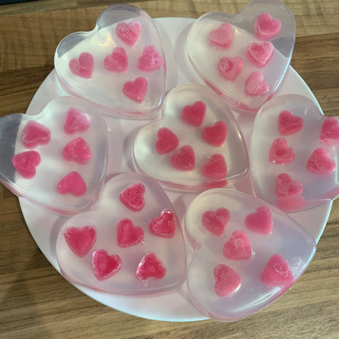Love Heart Soap (Prosecco Raspberry)