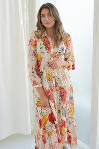 Stuarona Dress - Cloud Dancer Flowers