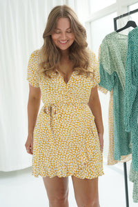 Mille Dress - Dark Yellow Flower