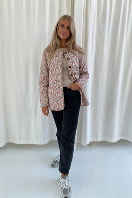 Short Maluca Jacket - Light Pink Print