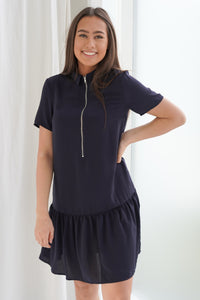 Ranona Dress - Midnight Blue
