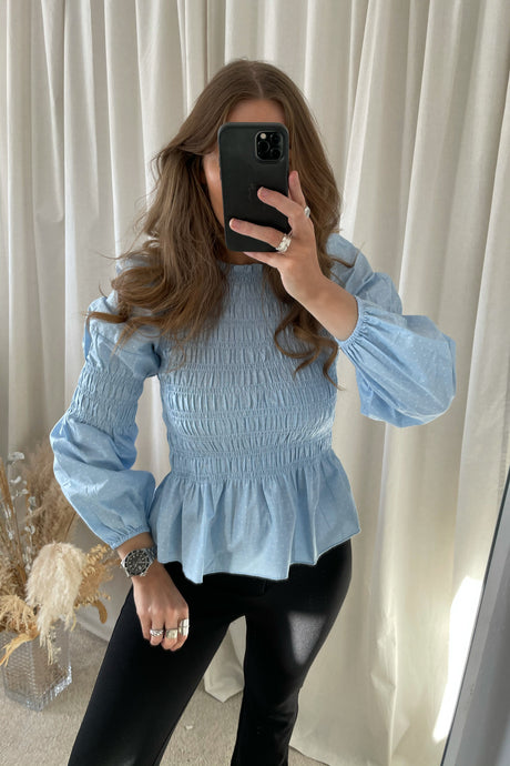 Gwenda L/S Top - Blue