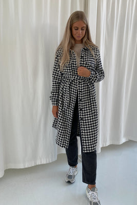 Long Emmy Jacket - Black/White Check