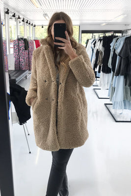 Gabi Teddy Jacket - Beige