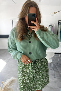 Lea Knit Cardigan - Green