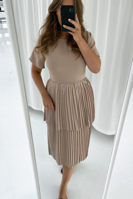 Long Maiken Dress - Beige