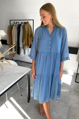 Ayla Dress - Faded Denim