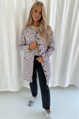 Long Maluca Jacket - Lilac Print