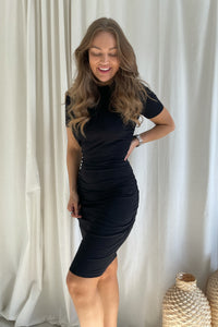 Beala SS Dress (Preorder del. week 14) - Black
