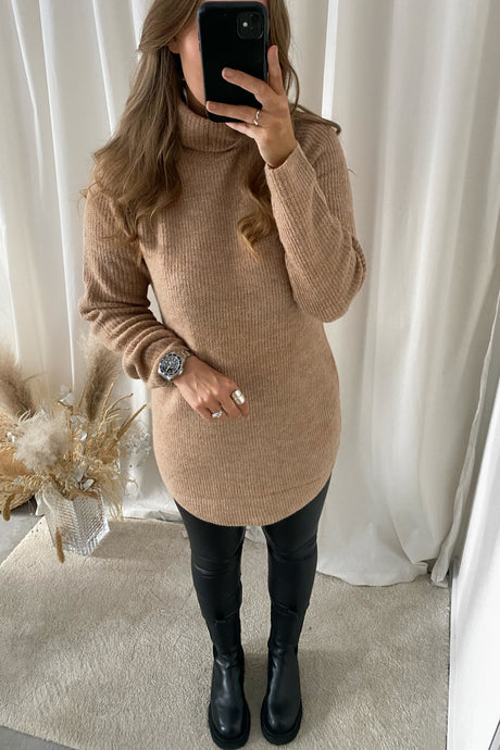 Ellen LS Long Knit - Brown