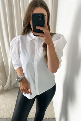 Julia 2/4 Shirt (PREORDER - week 2) - Bright White