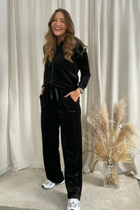 Athena Velvet Pants - Black