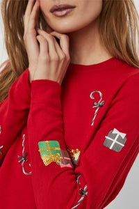 Christmas Knit - Red Embrodery