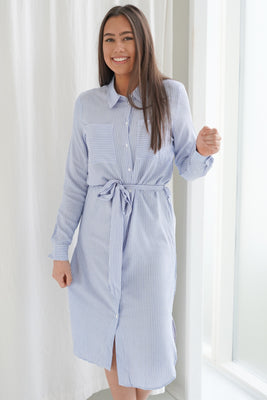 Tom Dress - Blue/White