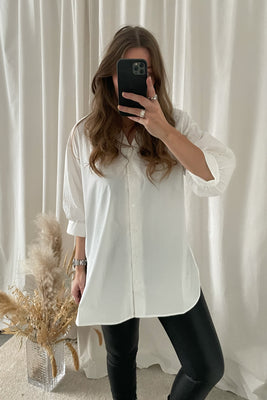 Cilda 3/4 Shirt - White