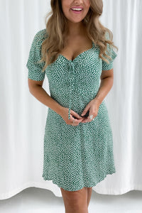Lula Dress - Flower Print Green