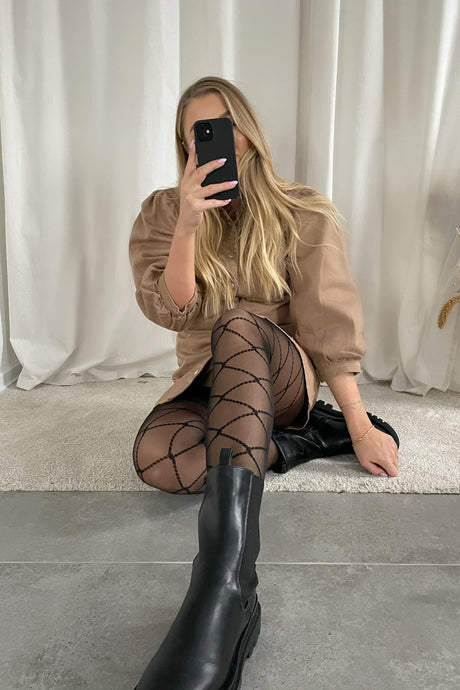 Emilie Tights - Black Square (Preorder del. week 4)