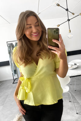 Loui Wrap Top - Sunny Lime