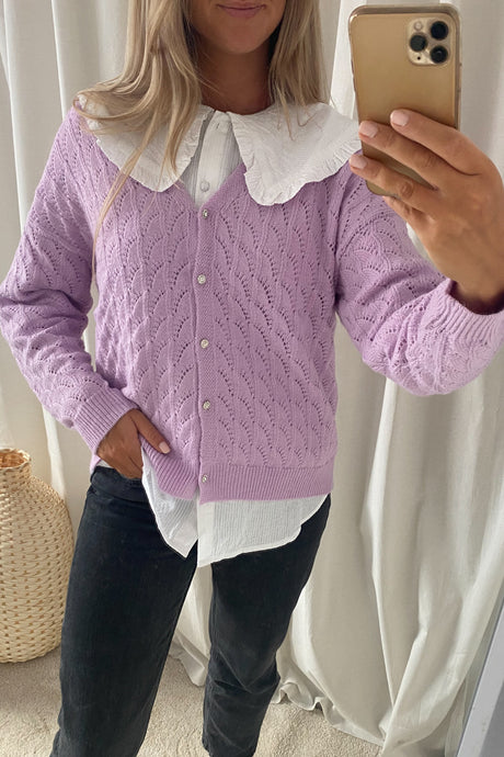 Ellen Cardigan - Purple