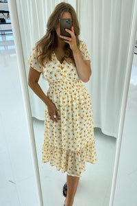 Melinda Dress - Sunset Yellow