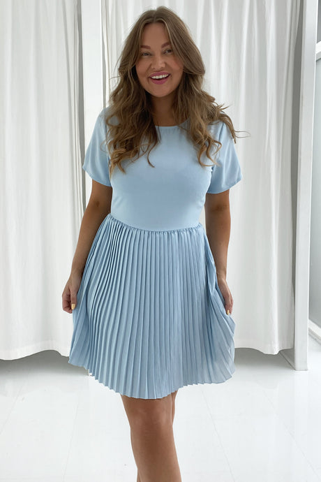 Maiken Dress - Light Blue