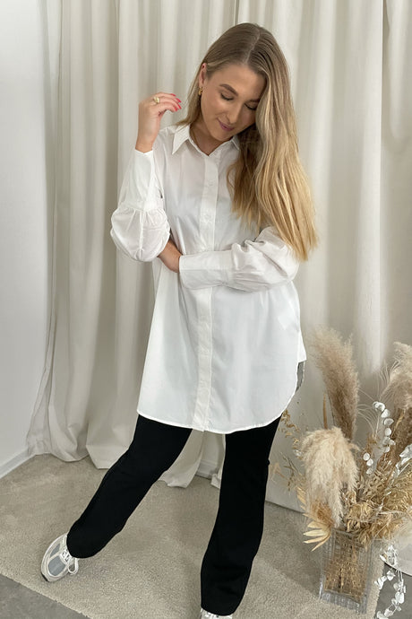 Long Gima L/S Shirt - White