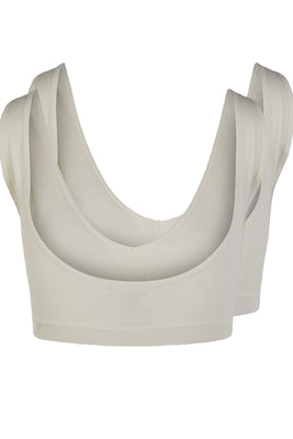 Symmi Rib Bra Top 2 Pack - Whitecap