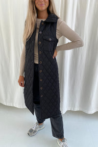 Maluca Vest - Quilted Black
