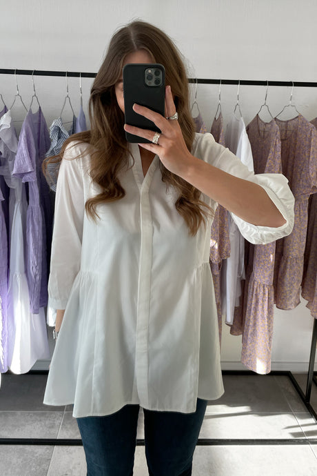 Clara 3/4 Long shirt - White