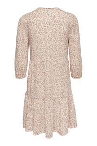 Freja 3/4 Puff Dress - Pumice Stone