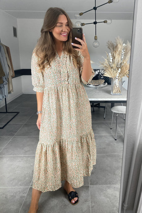 Zoey S/S Dress - Cloud Dancer