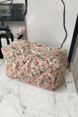 Maluca Cosmetic Bag - Light Pink Print