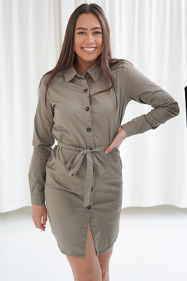 Freya Shirtdress - Army Green