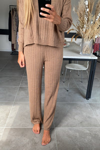 Tessa Pant Knit - Toasted Coconut