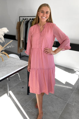 Ayla Dress - Dusty Rose