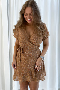 Mille Dress - Cognac Print