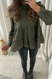 Mie Layer Shirt L/S (Preorder del. week 14) - Dusty Olive