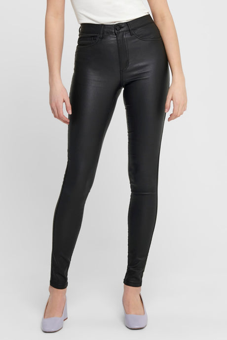 Shape High Waist Jeans (Preorder dl. week 9/10) - Coated Black