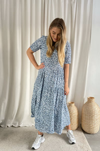 Amalie SS Midi Dress - Ranch Floral