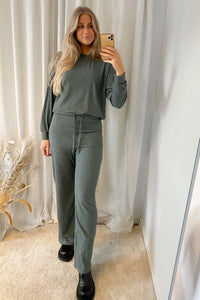 Zoe Wide Pants - Balsam Green