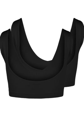 Symmi Rib Bra Top 2 Pack - Black