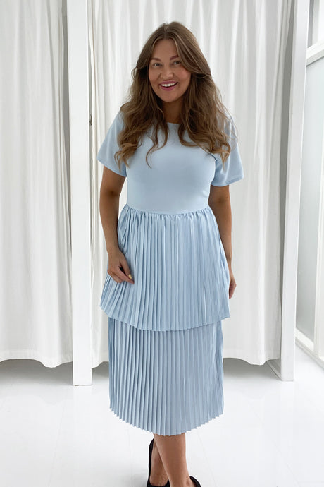 Long Maiken Dress - Light Blue