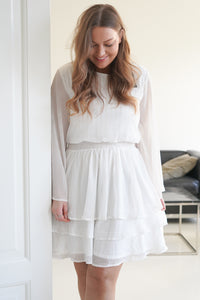 Nicoline Dress - White Glitter