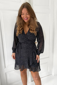Milla Dress - Black/White Dots
