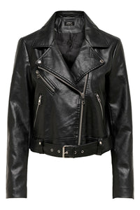 Valerie Faux Leather Jacket - Black