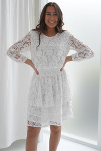 Nicoline Lace Dress - White