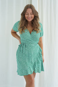 Mille Dress - Flower Print Green