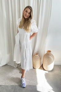 Donna 2/4 Dress (Preorder del. week 14) - White